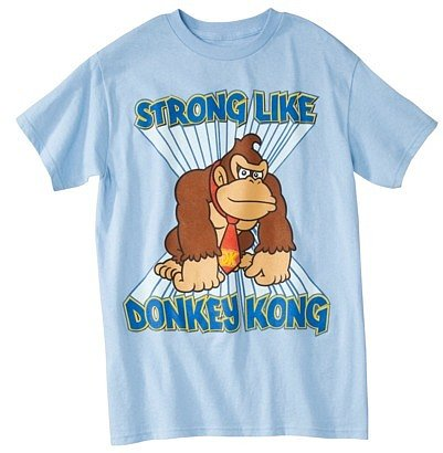 Donkey Kong Men's Graphic Tee - Light Blue