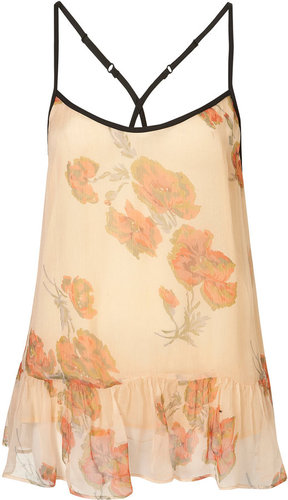 Frill Hem Floral Cami