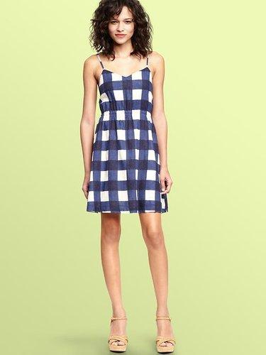 Gingham linen dress