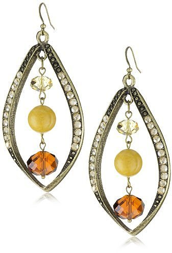 "Sparkling Sage ""Crushed Stone"" Matching Petal Yellow Jasper Earrings"