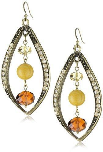 "Sparkling Sage ""Crushed Stone"" Matching Petal Yellow Jasper Earrings"