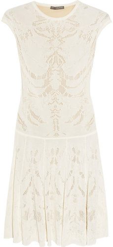 Alexander McQueen Skeleton-weave fine-knit dress