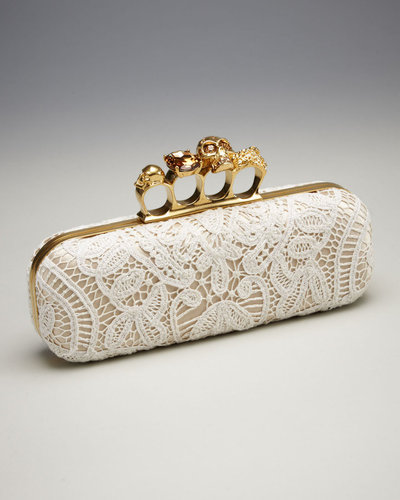 Alexander McQueen Lace Knuckle-Clasp Clutch
