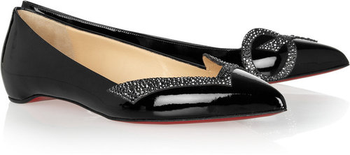 Christian Louboutin 20th Anniversary Pigalove patent-leather ballet flats