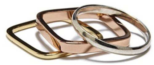 Bing Bang Mixed Metal Rings