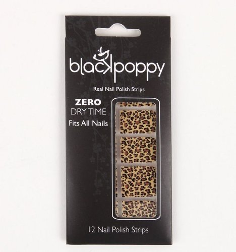Black Poppy Leopard Nail Polish Strips