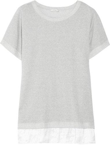 CLU Contrast-hem French terry sweatshirt