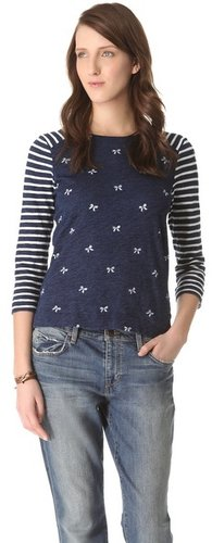 Madewell Bow Print Long Sleeve Tee