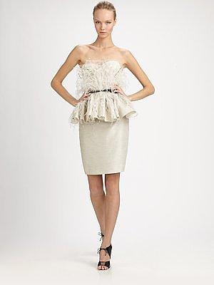 Feathered Peplum dress