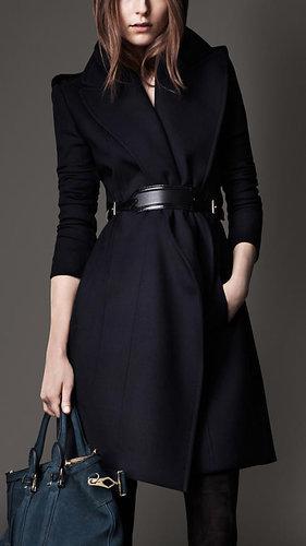 Wide Lapel Belted Coat