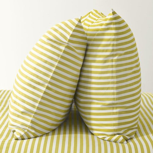 Stripe Sheet Set- White/Citron