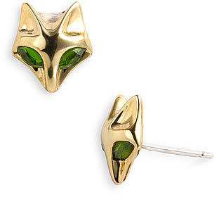 Elizabeth and James &#039;Fox&#039; Stone Stud Earrings