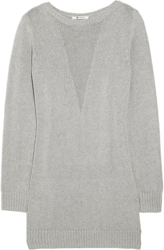 T by Alexander Wang Knitted silk-blend sweater dress