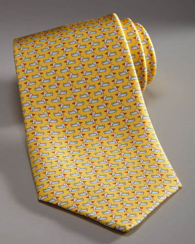 Salvatore Ferragamo Duck Tie, Yellow