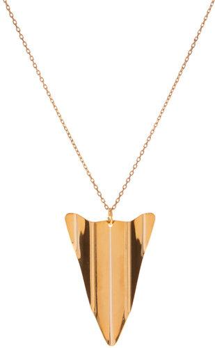Gogo Philip Gold Plate Aeroplane Pendant Necklace