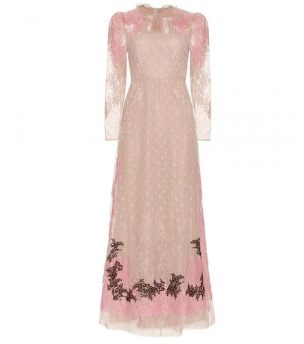 Valentino LACE EMBROIDERED TULLE DRESS