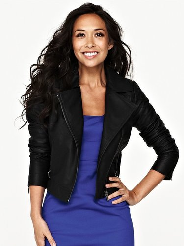 Myleene Klass Leather Biker Jacket