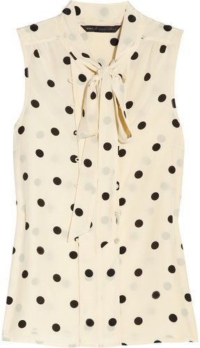 Marc by Marc Jacobs Hot Dot silk pussy-bow blouse