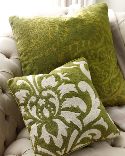Green Paisley Pillow