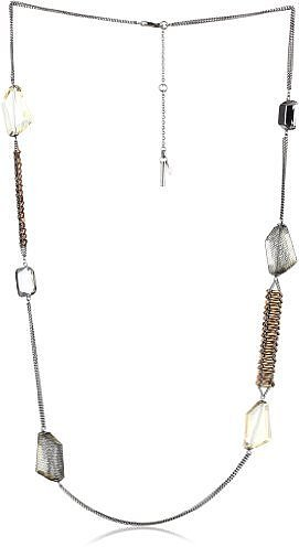 "Kenneth Cole New York ""Modern Bronze"" Faceted and Bugle Bead Long Necklace"