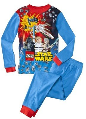Star War Lego Boys 2-piece Block The Force Pajama Set - Blue