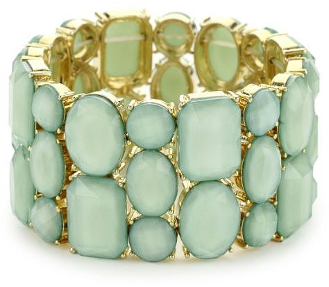 RAIN Mint Stretch Stone Bracelet