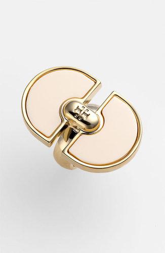 Tory Burch 'Magnus' Resin Plate Ring