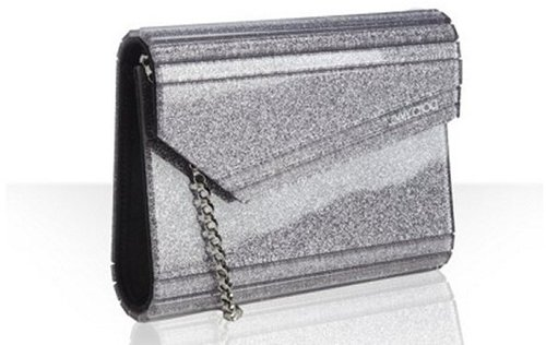 Jimmy Choo silver resin 'Candy' convertible clutch