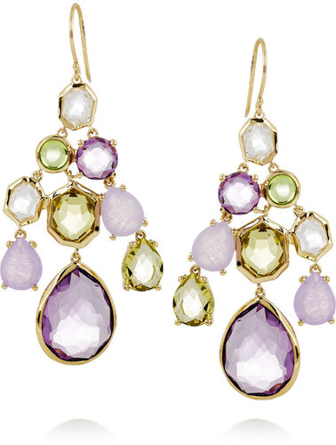 Ippolita Gelato 18-karat gold multi-stone chandelier earrings