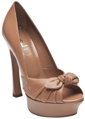 Yves Saint Laurent palais bow shoe