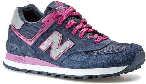 New Balance Women's 574 Sneaker - Blue/Pink