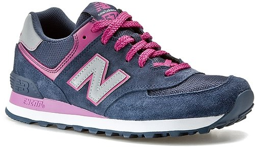New Balance Women's 574 Sneaker - Blue/Pink