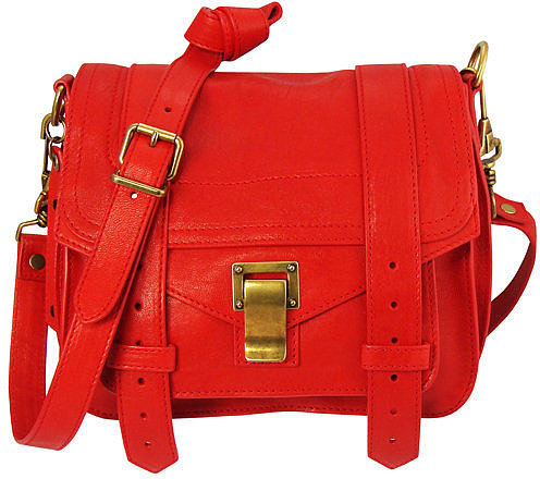 Proenza Schouler Ps1 Pouch Leather In Bright Red