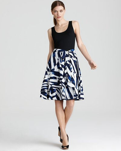 DKNY System Dress with Printed Skirt