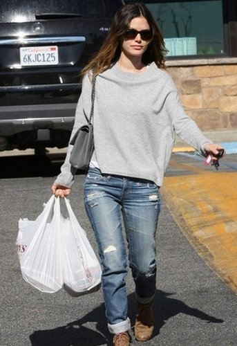 Cashmere Pullover in Light Grey and Black - as seen on Rachel Bilson - by Vkoo