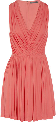 Alexander McQueen Pleated fine-jersey dress