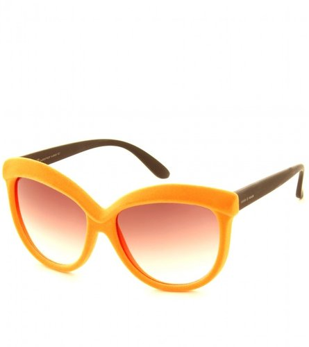 Italia Independent FLOCKED CAT-EYE SUNGLASSES