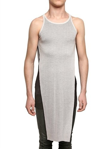 Gareth Pugh - Bicolored Rib Tencel Jersey Tank Top