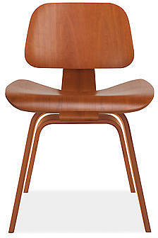 Eames® Molded Plywood Dining Chair with Wood Legs