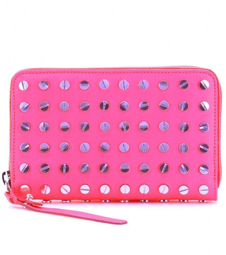McQ Alexander McQueen NAIL-HEAD EMBELLISHED LEATHER WALLET