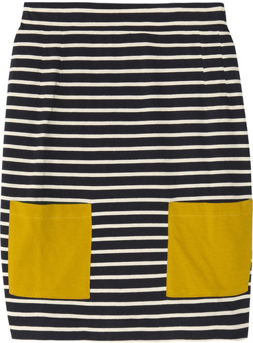 Chinti and Parker Striped cotton mini skirt