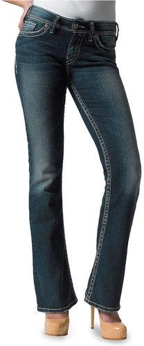 Silver Jeans Juniors Jeans, Suki Bootcut, Dark Wash