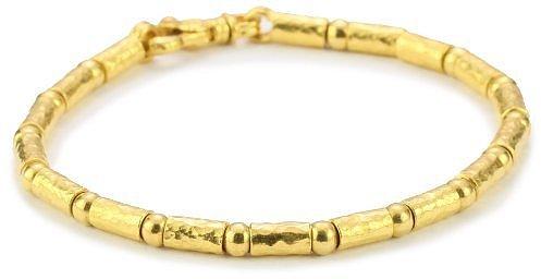 "GURHAN ""Gale"" High Karat Gold Tube and Ball Bracelet"