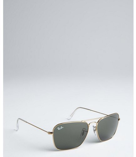 Ray-Ban gold metal 'Caravan' squared aviator sunglasses