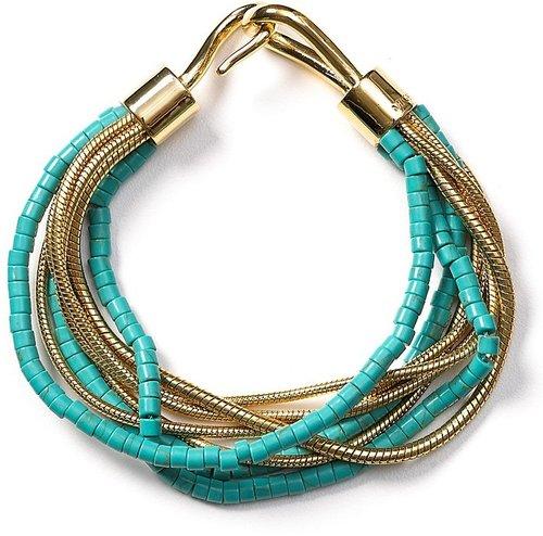 Michael Kors Multi Chain Turquoise Hook Bracelet