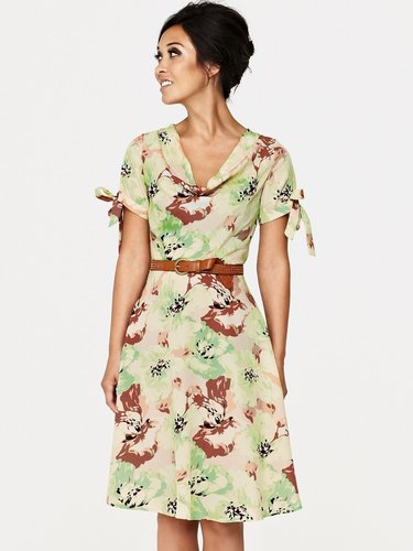 Myleene Klass Bias Cut Vintage Print Dress