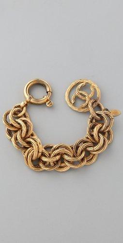 Wgaca Vintage Vintage Chanel Circle Links Bracelet