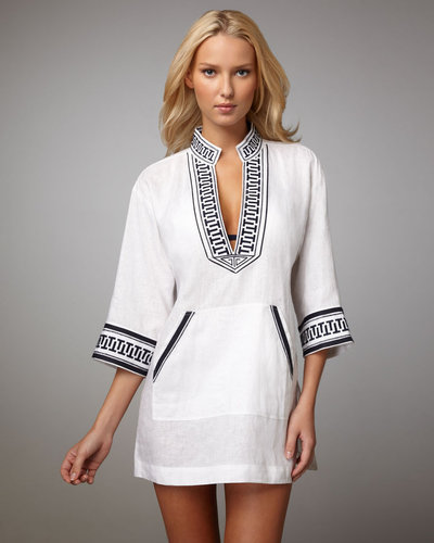 Tory Burch Print-Trim Tunic