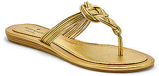Kate Spade - Iliana - Old Gold Metallic Leather Thong Sandal
