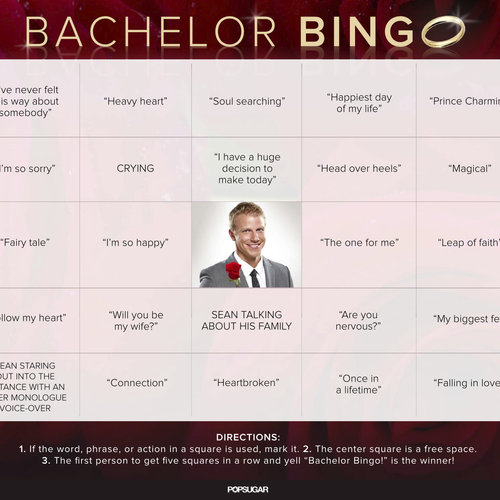 The Bachelor Bingo Printable